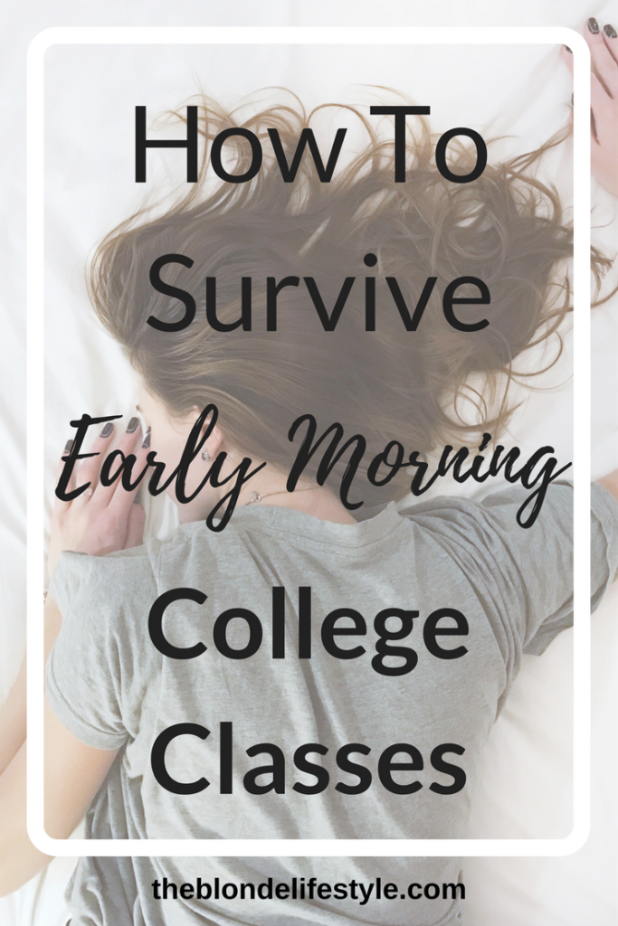 How To Survive Early Morning College Classes