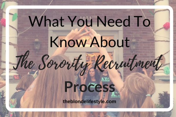 What You Need To Know About Sorority Recruitment
