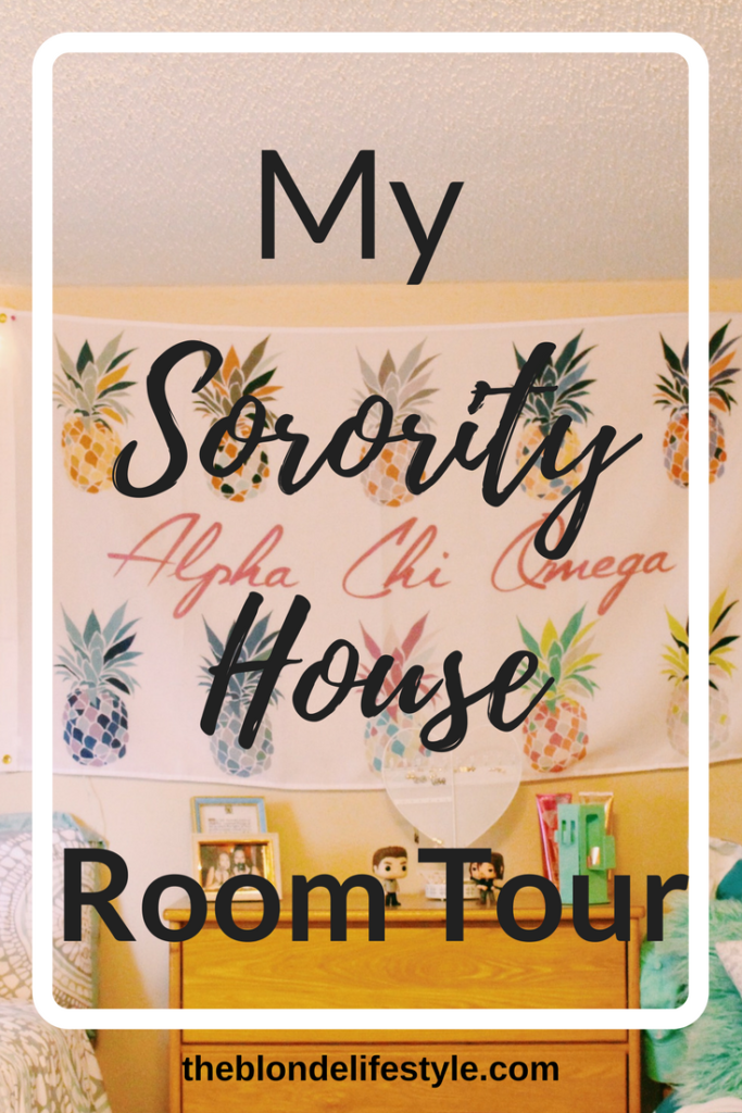 Pin Now, View Later! Last Friday I moved into the Alpha Chi Omega Sorority house at my university! We spent hours decorating and I can't wait to show you the inside!