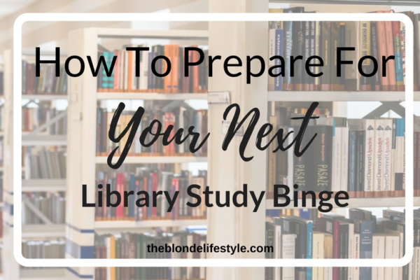 During mid-terms, finals, big tests, or basically any upcoming thing that will affect my grade, I'm most likely going to be in the library. Prepare for your next library study binge for finals week! --theblondelifestyle.com