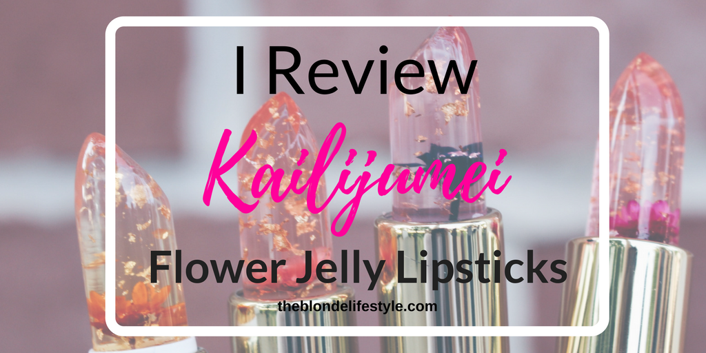 I Review Kailijumei Flower Jelly Lipsticks