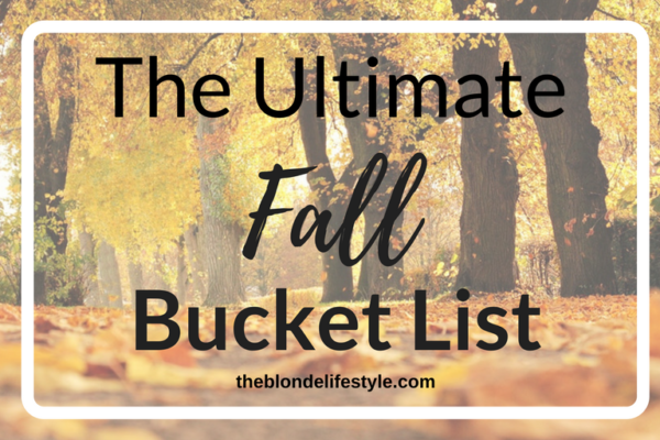 Fall time is my favorite time, and it seems to go by so quickly! So why not create a bucket list? Here are my favorite things to do during fall which includes eating lots of yummy fall treats and outdoor adventures! --theblondelifestyle.com