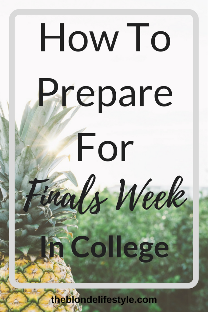 Finals Week is on it's way, which means it's time to prepare now! Finals in college are much different than in high school. Find out how to study for them here! How To Prepare For Finals Week In College --theblondelifestyle.com