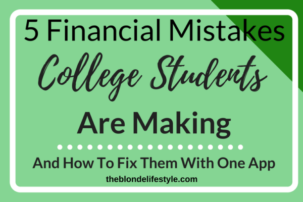 Let's be honest, money is not college students' favorite thing to talk about. There never seems to be enough of it, and what we do have, is gone in a flash. Find out the financial mistakes you may be making as a college student and how you can fix it with the Pluto Finance App --theblondelifestyle.com
