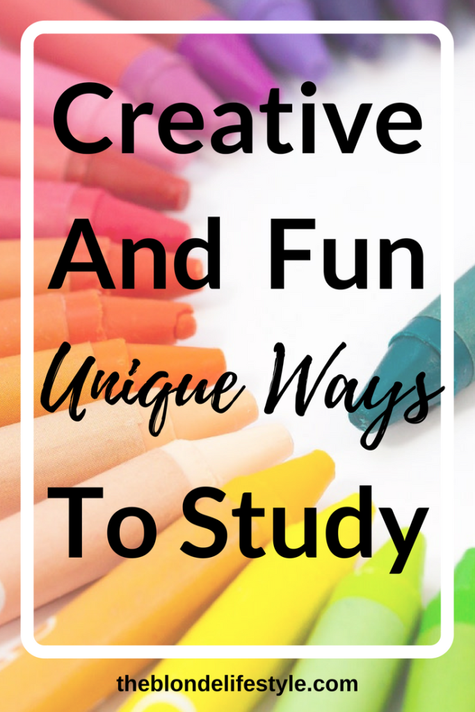 Traditional studying can get so boring overtime. Try some creative and fun unique ways to study! From games, to quizzes, to coloring! There are so many ways you can learn material that isn't boring! --theblondelifestyle.com