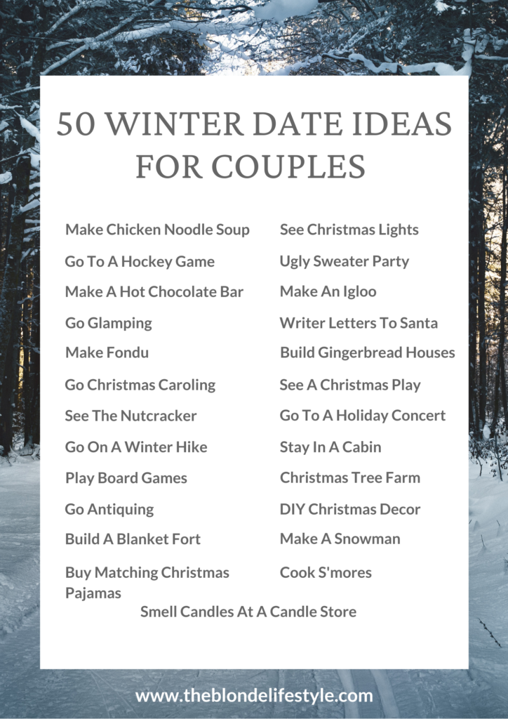 5+ Winter Date Ideas Perfect For Couples  The Blonde Lifestyle